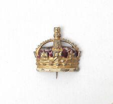 Britains Pre-War Lead Souvenir Coronation Crown Stick Pin/Brooch c.1937