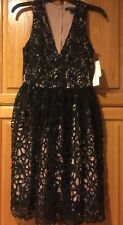 French Connection Black Lace Dress -Size US 0, UK 4 NWT