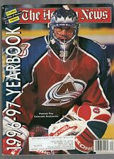 1996-97 THE HOCKEY NEWS YEARBOOK- PATRICK ROY-COLORADO AVALANCHE COVER