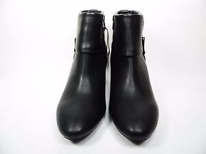 East 5th Quann Womens Ankle Booties Heels Man Made Black Size 7W
