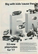 1977 ADVERT 2 PG Ertl Toy Trucks Die Cast IH Scout New Models Tractor Cars Van