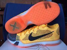 Nike Kobe X 10 Elite Low 12 Rivalry Chester Total Orange Black Grey 747212-818