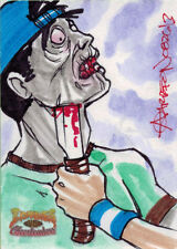5finity Zombies vs Cheerleaders 2013 Sketch Card by Andy Carreon