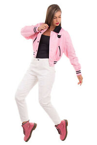 RRP €1140 MIU MIU Blouson Jacket Size 40 S-M Embellished Cat Patch Made in Italy