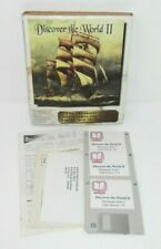 """Vintage Discover the World II Computer Game - Macintosh MAC 3.5"""" Entrex Software"""