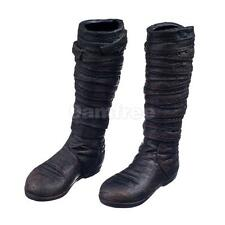 """1/6 Scale Black Long Boots Shoes for 12"""" ZY HT HOT TOYs Male Action Figure"""