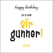 """Happy Birthday Air Gunner"" (Stunner) Card Cockney rhyming for girls/women"