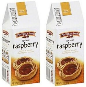 Pepperidge Farm Raspberry Sweet & Simple Thumbprint Cookies 2 Bag Pack