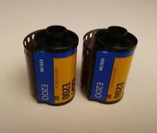 Kodak E200 color slide film E6 35mm, 2 rolls. EXPIRED