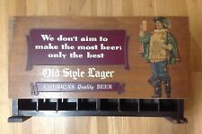 1940's Old Style Lager Beer Sign Display/ Cigarette Pack Wood Case vintage