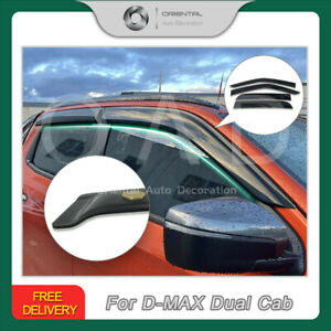 Luxury Weathershields Window Visors for ISUZU DMAX D-MAX Dual Cab 2020+ T