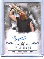 WWE Erick Rowan 2016 Topps Undisputed On Card Autograph SN 19 of 299