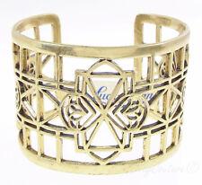 Lucky Brand Gold-Tone Clover Open Work Cuff Bracelet