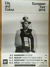 CITY AND COLOUR 2016 TOUR  - orig.Concert Poster  --  Konzert Plakat  A1 NEU