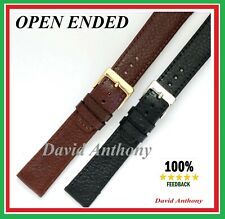 LUXURY Open Ended Leather Watch Strap.Gents Italian Denver Calf 16mm 18mm 20mm