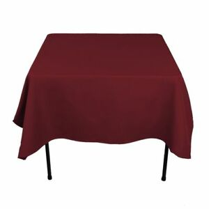 """8 Square Tablecloths 90""""x 90"""" inch Polyester Party Overlay Banquet 23 COLORS USA"""