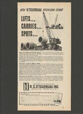 LE TOURNEAU Revolving Crane - 1955 Vintage Print Ad # 131 9