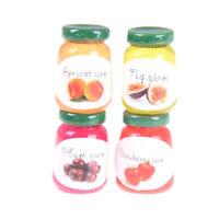 Dollhouse Miniatures 1:12 Accessories Jams Miniature Kitchen 4 Bottles Jams NiWR