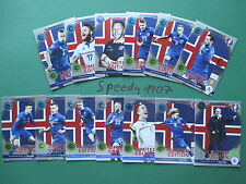 Panini Adrenalyn Euro 2016 Limited Edition all 13 Iceland Island complete Set