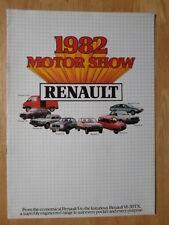 RENAULT RANGE 1981-82 UK Mkt Sales Brochure - 4 5 14 18 20 30 Fuego Trafic