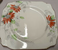 Paragon Bone China Handpainted Orange Flower Pattern X2244 Side Plate c1933-38