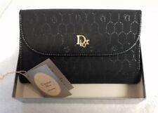 VINTAGE AUTENTICO Christian Dior donna POCHETTE ORO NERO ANNI'80 Scatola Originale