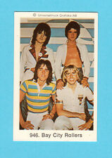 The Bay City Rollers Vintage 1970s Pop Rock Music Card from Sweden #946