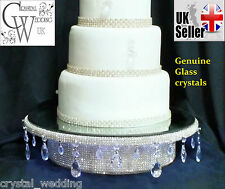 Diamante cake stand droplet style  podium with light up feature  Gold or silver