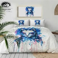 Space By Pixie Cold Art Bedding Set Watercolor Duvet Cover With Pillowcases