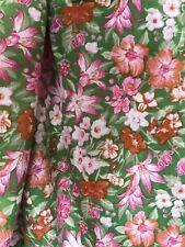 Vintage Floral Pattern Viyella Fabric 5.90 M