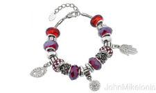 Evil Eye Charm Bracelet Made with Swarovski Crystals by Elements of Love