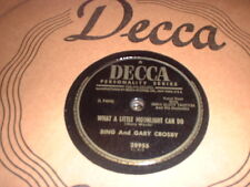78RPM Decca 28955 Bing and Gary Crosby, What a Little Moonlight Can, Down By V+