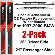 "97-03 BMW 525i 528i 530i 540i M5 Set Of 2 Wiper Blades 26""+21"" Trico 26-11 21-11"