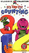 Barney It's Time For Counting VHS 1997 Never Before Seen On TV! Classic - Tested