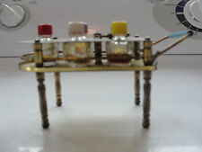 Perfume cart stand,bottles,miniature,vanity vintage,old collectible advertising