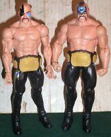 WWE WRESTLING FIGURES MATTEL LEGION OF DOOM ANIMAL & HAWK WITH TAG TEAM BELTS