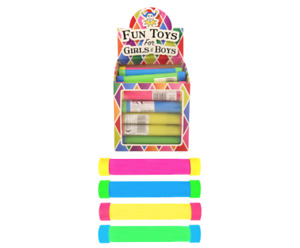 Groan Tube (13.5cm) 4 Assorted Colours - Party Bag Fillers - Pack of 6