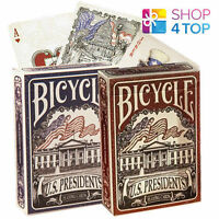 BICYCLE US PRESIDENTS PLAYING MAGIC TRICKS POKER CARDS DECK BLUE RED USA NEW