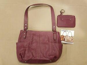 Tignanello Pebble Leather Shoulder Bag Medium Satchel Purse NEW