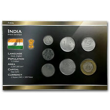 1988-2010 India 10 Paise-10 Rupees Coin Set Unc - SKU #87174