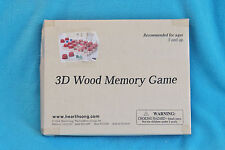 3D WOOD MEMORY GAME - WOODEN BOARD, WOODEN PIECES - BRAND NEW