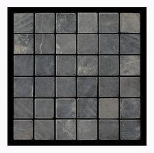 Duschen Naturstein-Mosaik Marmormosaik Grau 5x5 PA-801 - 1 Fliese - Lager Herne