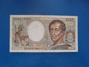 200   FRANCS  MONTESQUIEU 1986   C 038