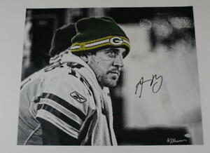 AARON RODGERS SIGNED AUTOGRAPH 16X20 PHOTO GREEN BAY PACKERS FUTURE HOF STEINER