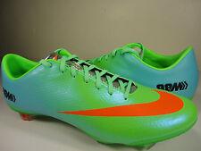 Nike Mercurial Vapor IX FG Soccer Cleats Neo Lime Crimson Blue SZ 8 (555605-380)
