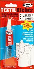 Textil-Kleber weiß-trocknet transparent 13g Klebstoff für Textilien Meyco 65725