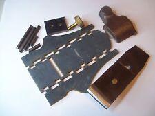 """Norris type brass & steel dovetail infill smoothing plane kit  1 1/4"""""""