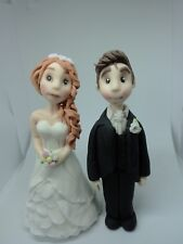 Bride and groom Handmade edible cake topper wedding cake party special occasion