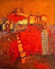 Madjid: Squares Abstrakt Bild 70x90