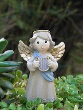 Miniature FAIRY GARDEN ~ Holy Nativity CHRISTMAS Angel Figurine Plant Pick